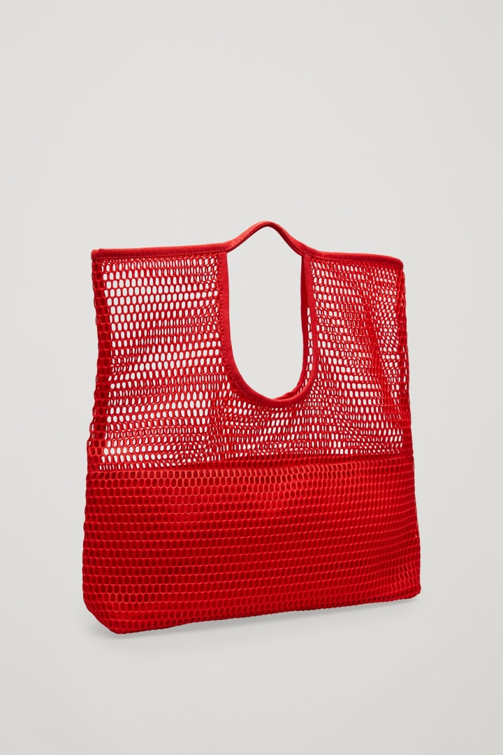 Red hand-bag on party time